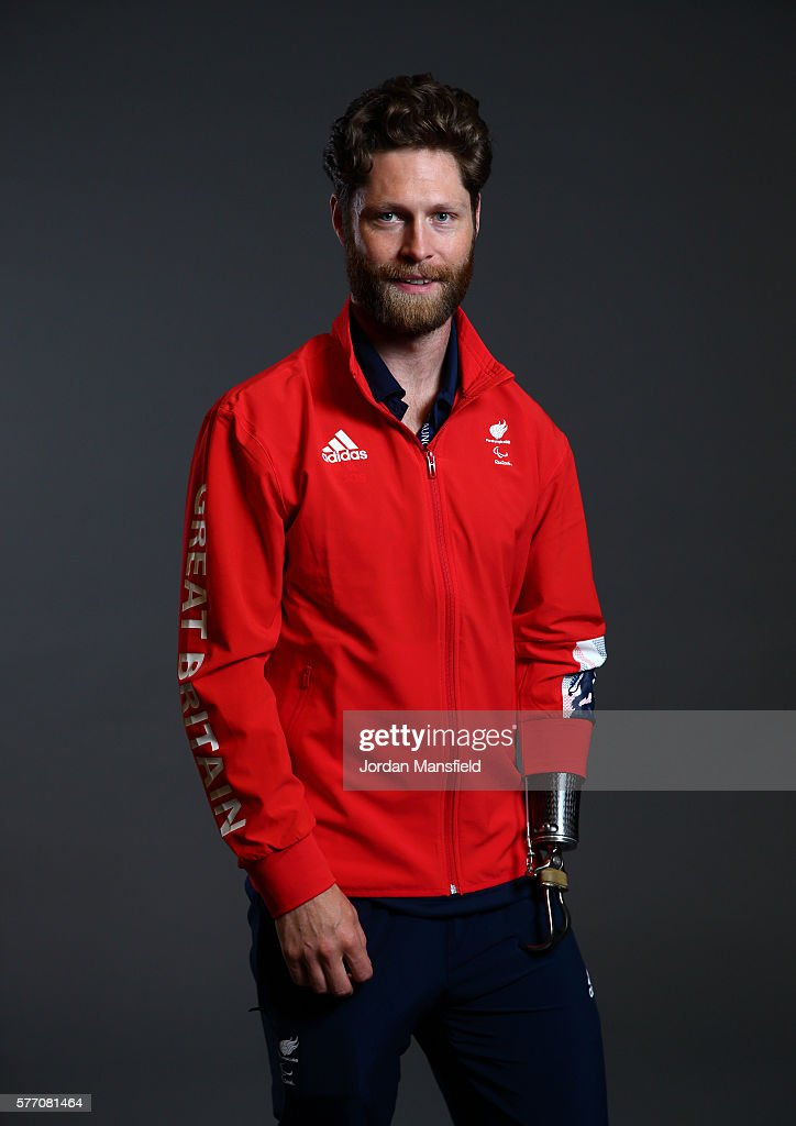 JonAllan Butterworth a member of the ParalympicsGB Cycling team poses for a portrait during the Paralympics GB Media Day at Park Plaza Westminster...