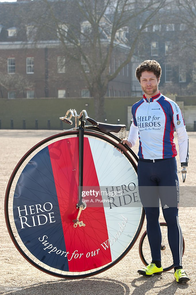 JonAllan Butterworth attends as the Help For Heroes Hero Ride is launched at Horse Guards Parade on March 5 2013 in London England