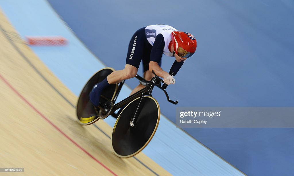 JonAllan Butterworth of Great Britain competes in the Men's Individual C45 1km Cycling Time Trial final on day 2 of the London 2012 Paralympic Games...