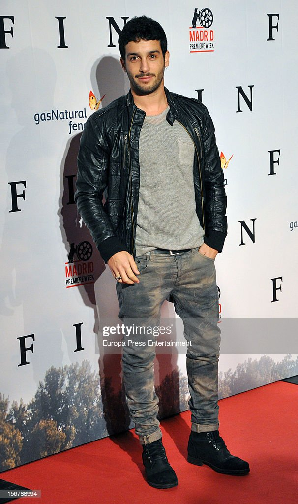 Jonas Berami attends 'Fin' premiere on November 20, 2012 in Madrid, Spain.
