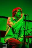 Jonas Bjerre of Mew perform at Zune LA on August 31 2009 in Los Angeles California