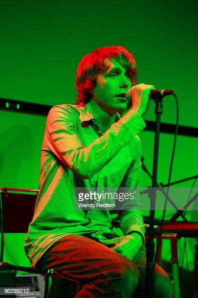 Jonas Bjerre of Mew perform at Zune LA on August 31 2009 in Los Angeles California