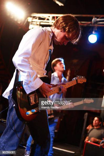 Jonas Bjerre of Mew perform on stage at The Troubadour on September 1 2009 in Los Angeles California