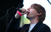 Jonas Bjerre of Mew performs during the 2009 Pitchfork Music Festival at Union Park on July 19 2009 in Chicago Illinois