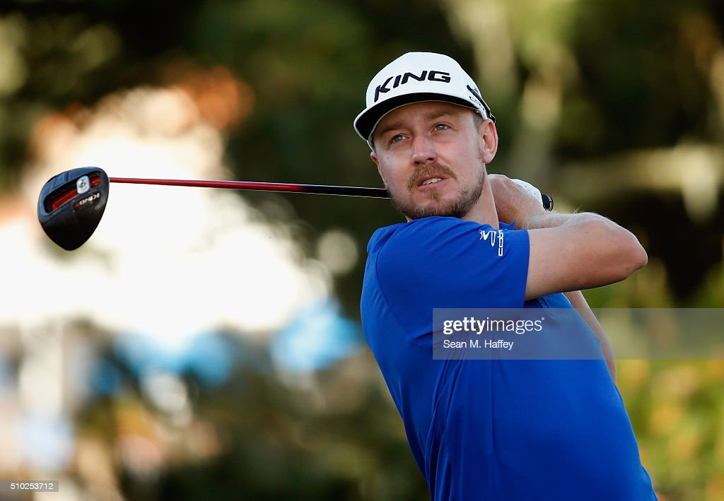 <a gi-track='captionPersonalityLinkClicked' href=/galleries/search?phrase=Jonas+Blixt&family=editorial&specificpeople=4387884 ng-click='$event.stopPropagation()'>Jonas Blixt</a> of Sweden plays his tee shot on the second hole during the final round of the AT&T Pebble Beach National Pro-Am at the Pebble Beach Golf Links on February 14, 2016 in Pebble Beach, California.