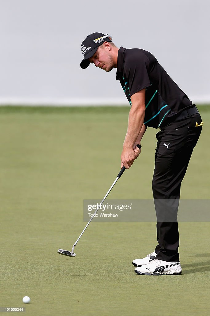 <a gi-track='captionPersonalityLinkClicked' href=/galleries/search?phrase=Jonas+Blixt&family=editorial&specificpeople=4387884 ng-click='$event.stopPropagation()'>Jonas Blixt</a> of Sweden putts the ball for a birdie on the 18th hole during the first round of the Greenbrier Classic at the Old White TPC on July 3, 2014 in White Sulphur Springs, West Virginia.