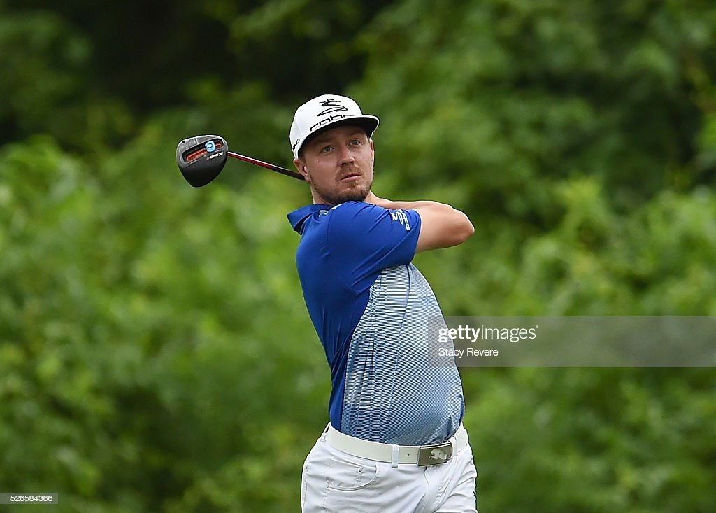 Jonas Blixt of Sweden tees off on the second hole during the third round of the Zurich Classic at TPC Louisiana on April 30, 2016 in Avondale, Louisiana.