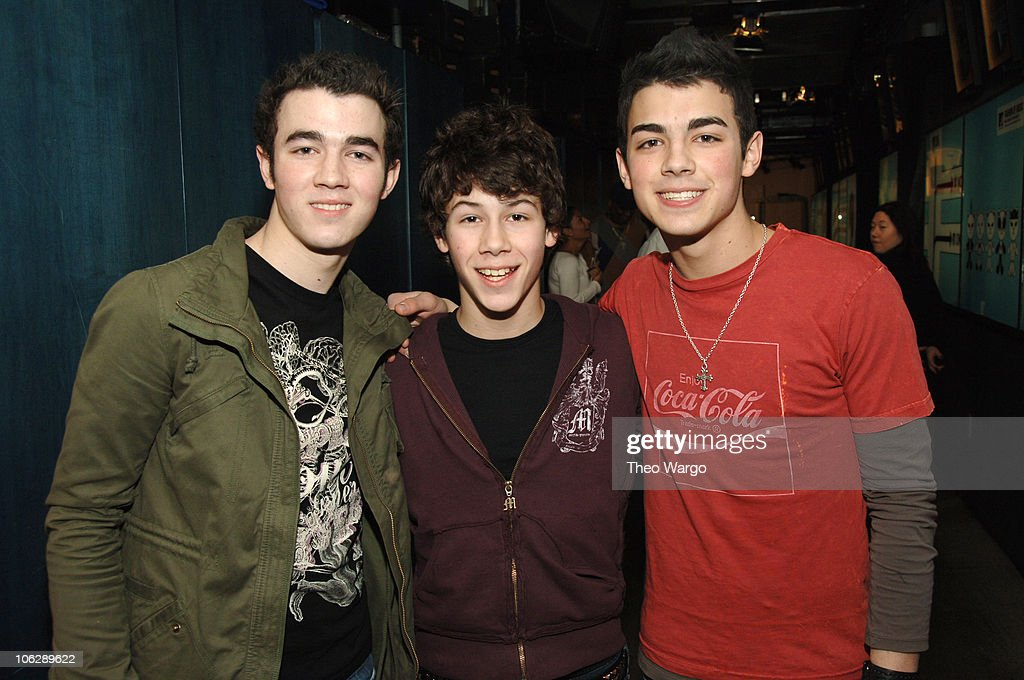Jonas Brothers during Jonas Brothers and JoJo Visit MTV's 'TRL' Studios March 1 2006 at MTV Studios in New York City New York United States