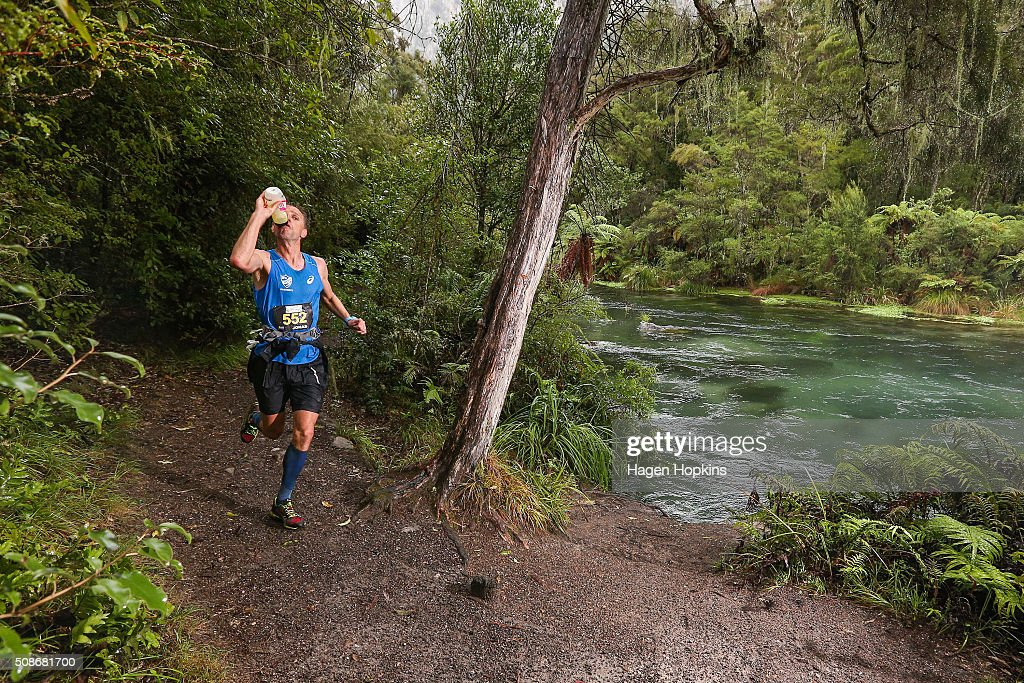 Jonas Buud of Sweden in action during the Tarawera Ultramarathon on February 6, 2016 in Rotorua, New Zealand.