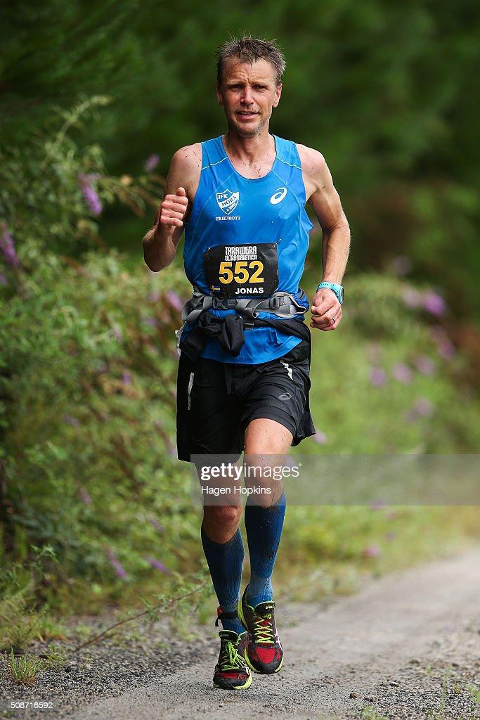 Jonas Buud of Sweden in action during the Tarawera Ultramarathon on February 6, 2016 in Rotorua, New Zealand.