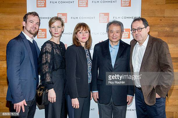Jonas Dormback Sandra Huller Maren Ade Ang Lee and Michael Barker attend the 2016 Film Society Of Lincoln Center and Film comment luncheon at...