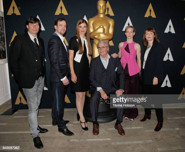 Jonas Dornbach Janine Jackowski Peter Simonischek Sandra Huller and Maren Ade attend attend the 89th Annual Academy Awards Oscar Week Celebration of...