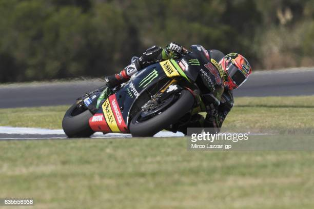 Jonas Folger of Germany and Monster Yamaha Tech 3 rounds the bend during 2017 MotoGP preseason testing at Phillip Island Grand Prix Circuit on...