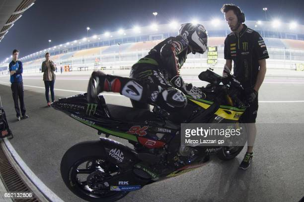 Jonas Folger of Germany and Monster Yamaha Tech 3 starts from box during the MotoGP Tests In Losail at Losail Circuit on March 11 2017 in Doha Qatar
