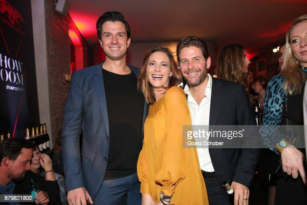 Jonas Grashey Managing Director Bunte Philipp Greffenius and his wife Evelyn Greffenius during the New Faces Award Style 2017 at 'The Grand' hotel on...