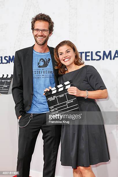Jonas Grosch and Katharina Wackernagel attend the Bertelsmann Summer Party at the Bertelsmann representative office on September 10 2014 in Berlin...
