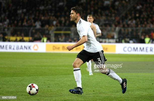 Jonas Hector of Germany in action during the international friendly match between Germany and England at Signal Iduna Park on March 22 2017 in...