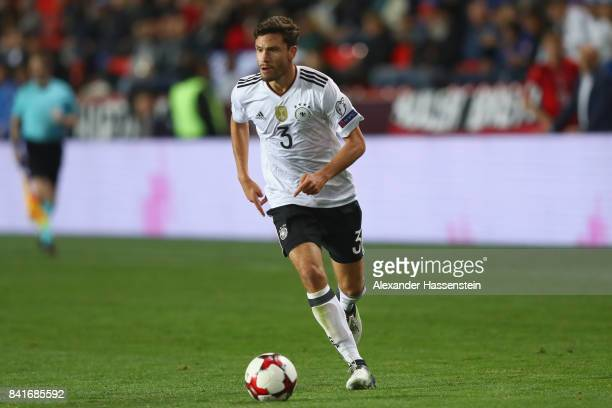 Jonas Hector of Germany runs with the ball during the FIFA World Cup Russia 2018 Group C Qualifier between Czech Republic and Germany at Eden Arena...