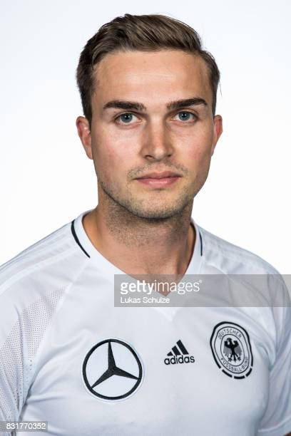 Jonas Hoffmann poses at Sport School Wedau on August 11 2017 in Duisburg Germany