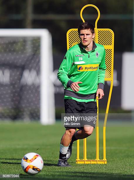 Jonas Hofmann controles the ball during a Borussia Moenchengladbach training session on day 3 of the Bundesliga Belek training camps at Maxx Royal...