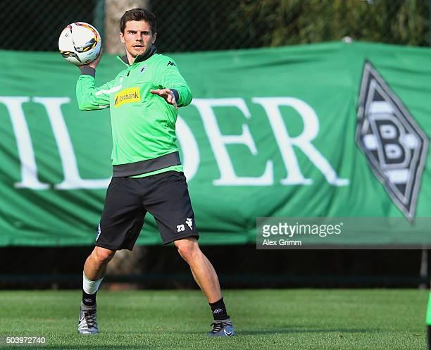 Jonas Hofmann holds the ball during a Borussia Moenchengladbach training session on day 3 of the Bundesliga Belek training camps at Maxx Royal Belek...