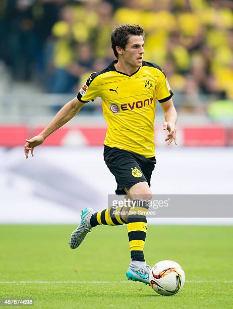 Jonas Hofmann of Borussia Dortmund during the Bundesliga match betweenÊHanover 96 v Borussia Dortmund at HDIArena on September 12 2015 in Hanover...