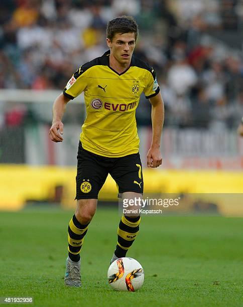 Jonas Hofmann of Dortmund controls the ball during the friendly match between Juventus and Borussia Dortmund on July 25 2015 in St Gallen Switzerland