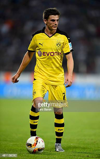 Jonas Hofmann of Dortmund runs with the ball during a preseason friendly match between VfL Bochum and Borussia Dortmund at Rewirpower Stadium on July...