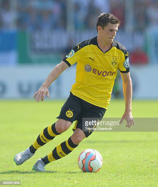 Jonas Hofmann of Dortmund runs with the ball during the DFB Cup first round match between Chemnitzer FC and Borussia Dortmund at Stadion an der...