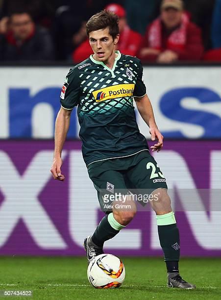 Jonas Hofmann of Moenchengladbach controles the ball during the Bundesliga match between 1 FSV Mainz 05 and Borussia Moenchengladbach at Coface Arena...