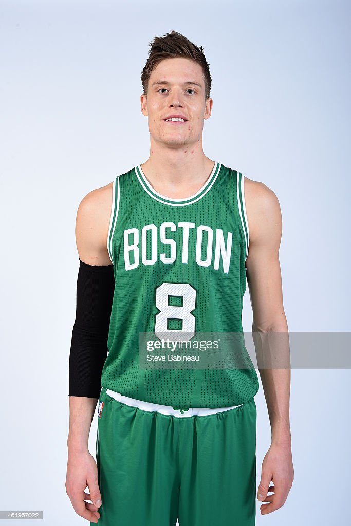 Jonas Jerebko of the Boston Celtics poses for a portrait before the game against the Golden state Warriors on March 1 2015 at the TD Garden in Boston...