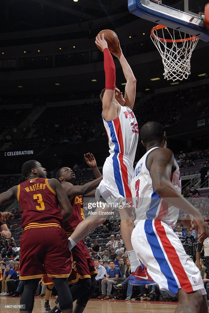 <a gi-track='captionPersonalityLinkClicked' href=/galleries/search?phrase=Jonas+Jerebko&family=editorial&specificpeople=5942357 ng-click='$event.stopPropagation()'>Jonas Jerebko</a> #33 of the Detroit Pistons against the Cleveland Cavaliers on March 26, 2014 at The Palace of Auburn Hills in Auburn Hills, Michigan.