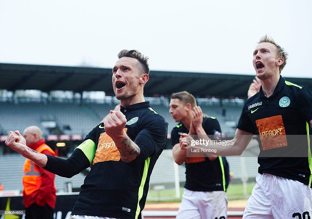 <a gi-track='captionPersonalityLinkClicked' href=/galleries/search?phrase=Jonas+Kamper&family=editorial&specificpeople=605836 ng-click='$event.stopPropagation()'>Jonas Kamper</a> and Soren Reese of Viborg FF celebrate after the Danish Alka Superliga match between AGF Aarhus and Viborg FF at Ceres Park on April 29, 2016 in Aarhus, Denmark.