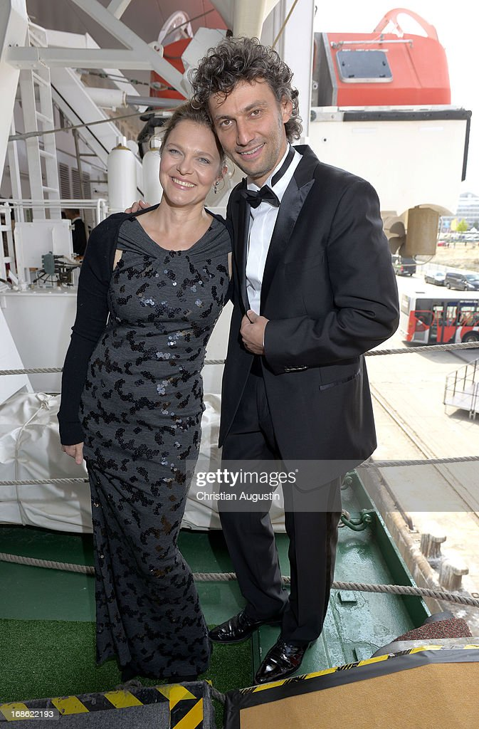 Jonas Kaufmann and Margarete Joswig attend the charity event 'Die Goldene Deutschland' at MS Deutschland on May 12, 2013 in Hamburg, Germany.