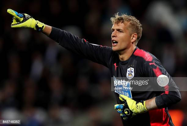 Jonas Loessl of Huddersfield Town during the Premier League match between West Ham United and Huddersfield Town at London Stadium on September 11...