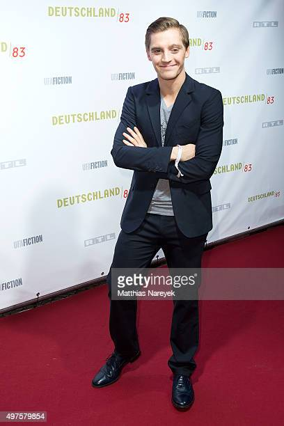 Jonas Nay attends the 'Deutschland 83' premiere at Babylon on November 17 2015 in Berlin Germany