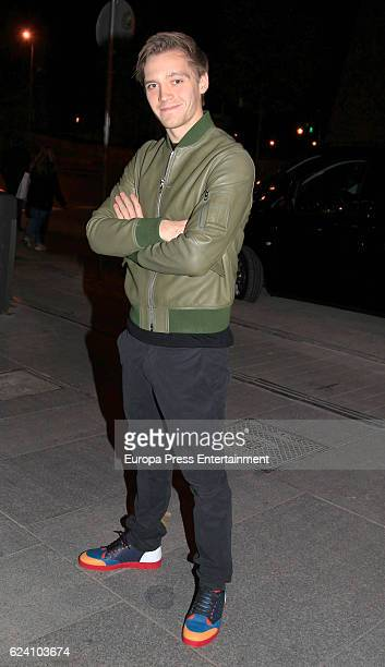 Jonas Nay attends the opening of the exhibition 'LOEWE Past Present Future' at Botanic Garden on November 17 2016 in Madrid Spain