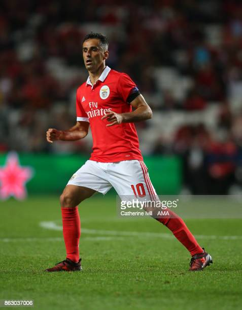 Jonas of Benfica during the UEFA Champions League group A match between SL Benfica and Manchester United at Estadio da Luz on October 18 2017 in...