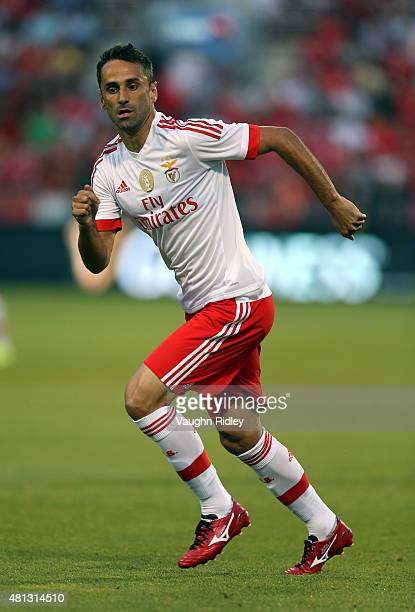 Jonas of Benfica in action during the 2015 International Champions Cup match against Paris SaintGermain at BMO Field on July 18 2015 in Toronto...