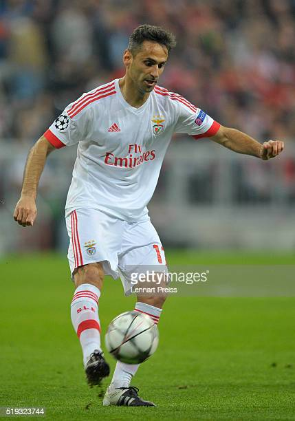 Jonas of Benfica in action during the UEFA Champions League Quarter Final first leg match between FC Bayern Muenchen and SL Benfica at Allianz Arena...