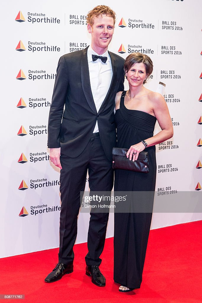 <a gi-track='captionPersonalityLinkClicked' href=/galleries/search?phrase=Jonas+Reckermann&family=editorial&specificpeople=228457 ng-click='$event.stopPropagation()'>Jonas Reckermann</a> and his wife Katja attend German Sports Gala 'Ball des Sports 2016' on February 6, 2016 in Wiesbaden, Germany.