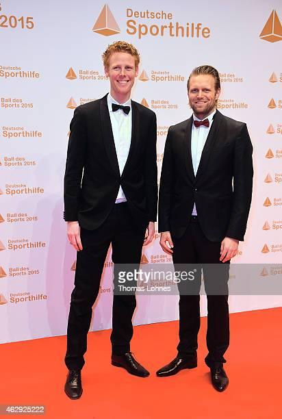 Jonas Reckermann and Julius Brink on February 7 2015 in Wiesbaden Germany