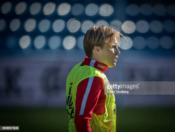 Jonas Svensson of Norway during training before Norway v Northern Ireland at Ullevaal Stadion on October 7 2017 in Oslo Norway
