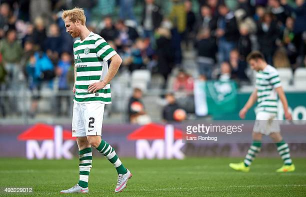 Jonas Thorsen of Viborg FF looks dejected after the Danish Alka Superliga match between Viborg FF and Brondby IF at Energi Viborg Arena on October 18...