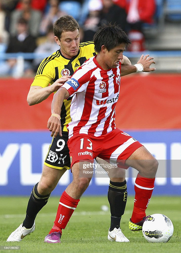 Jonatan Germano of the Heart controls the ball during the round nine A-League match between the Melbourne Heart and the Wellington Phoenix at Latrobe City Sports & Entertainment Complex on December 4, 2011 in Melbourne, Australia.