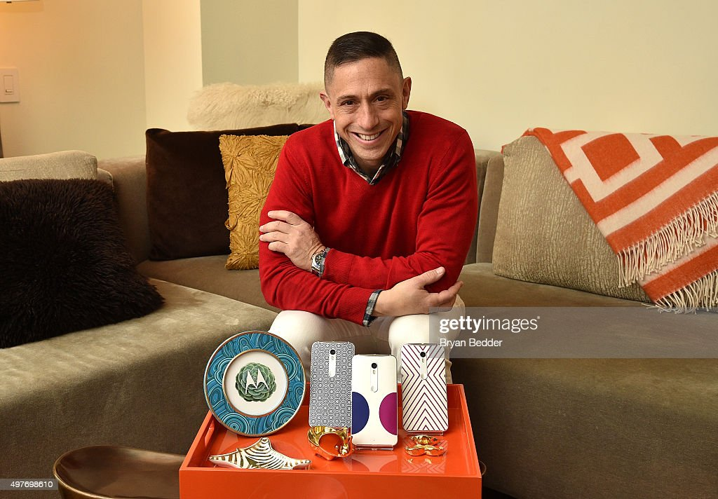 <a gi-track='captionPersonalityLinkClicked' href=/galleries/search?phrase=Jonathan+Adler&family=editorial&specificpeople=2257680 ng-click='$event.stopPropagation()'>Jonathan Adler</a> launches a special collection for the Moto X Pure Edition in time for the holidays at W New York Hotel on November 18, 2015 in New York City.