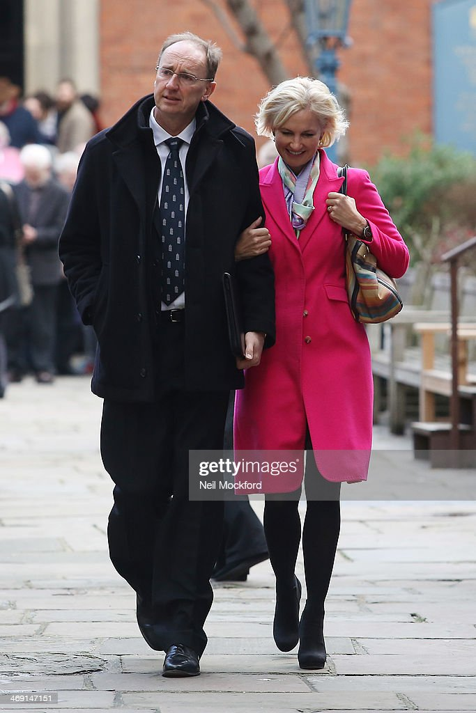 Jonathan Agnew (L) attends the funeral of Roger Lloyd-Pack at St Paul's Church in Covent Garden on February 13, 2014 in London, England.