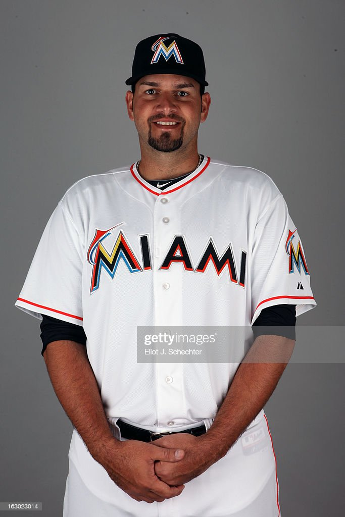 Jonathan Albaladejo #63 of the Miami Marlins poses during Photo Day on Friday, February 22, 2013 at Roger Dean Stadium in Jupiter, Florida.