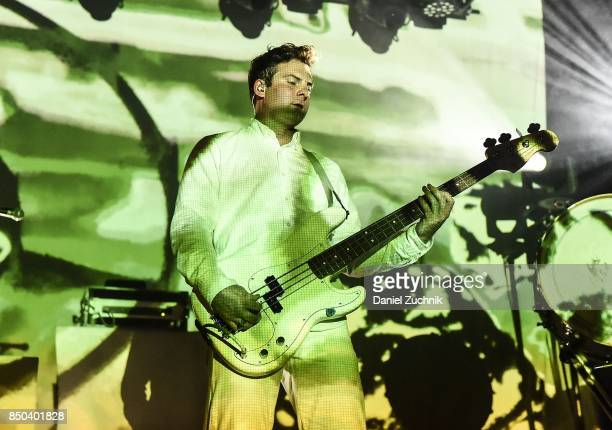 Jonathan Allen of Mutemath performs during the Mutemath with Romes and Colony House in Concert at Brooklyn Steel on September 20 2017 in the Brooklyn...