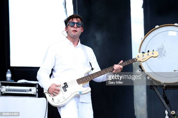 Jonathan Allen performs in concert with Mutemath on the first day of week one of the Austin City Limits Music Festival at Zilker Park on October 6...